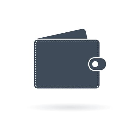 Wallet Icon in trendy flat style isolated Иллюстрация