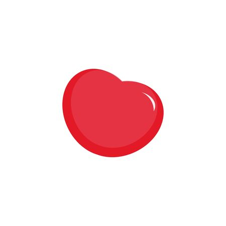 vector icon of animated heart with flare