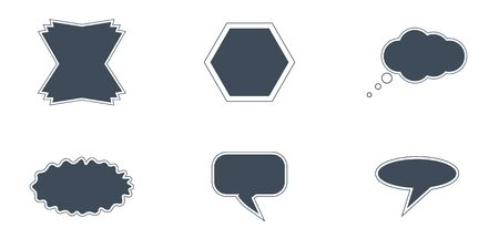 vector set of fields for communication or for writing words Stock Illustratie