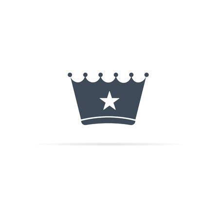 vector crown icon with cancel sign - star