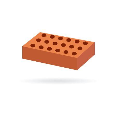 vector brick icon on a white background Ilustrace
