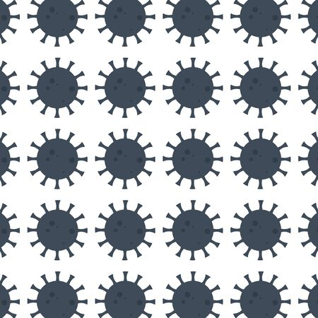 vector background composed of coronavirus bacteria under a microscope