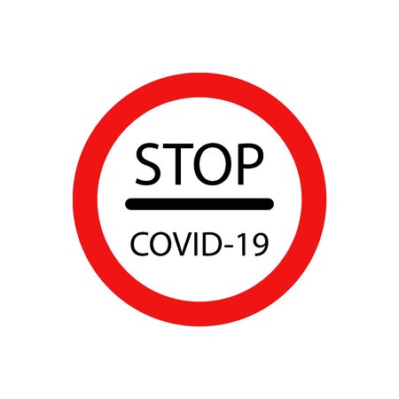 vector icon of road sign prohibiting further travel