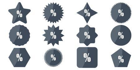 vector set of discount icons on tag in holidays Illusztráció