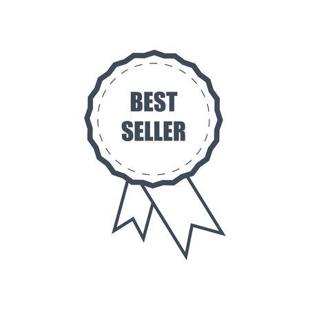 light vector best seller honors icon on background