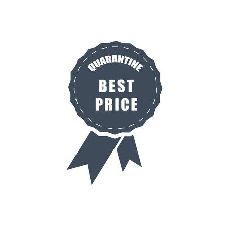 dark vector icon of the best price during quarantine
