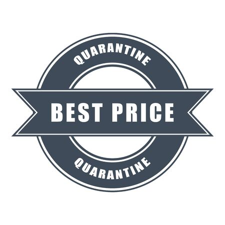 vector icon of best price honors during quarantine on background