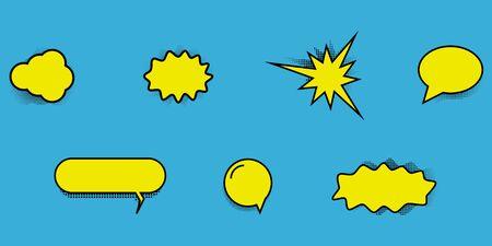 vector comic dialog box icons set for superhero talks Illusztráció