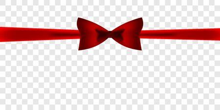 vector image of a gift ribbon with a bow