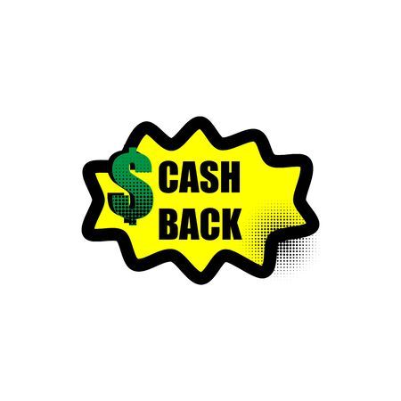 vector money back icon in street style