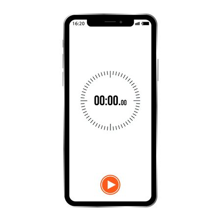 vector image of smartphone with timer example