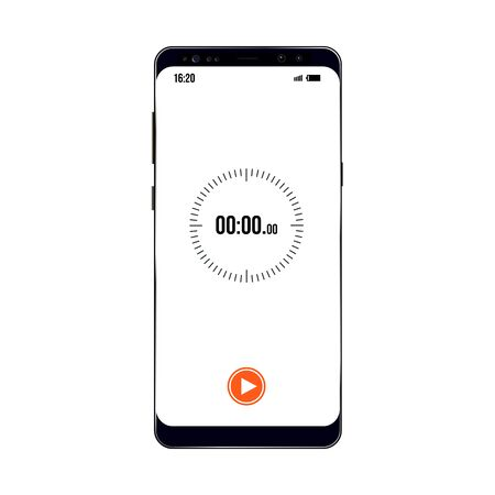 vector image of older model smartphone with timer example 向量圖像