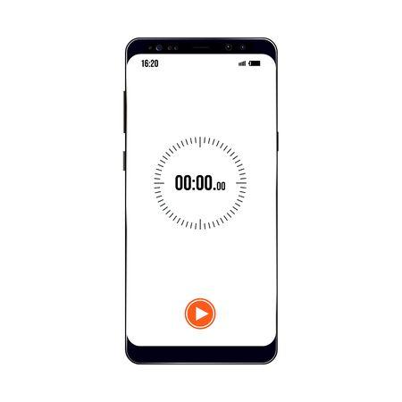 vector image of older model smartphone with timer example Illusztráció
