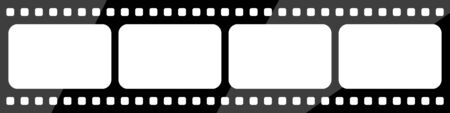 widescreen vector image of black movie tape Vectores
