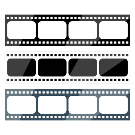 vector set of movie tape icons of different format Vectores