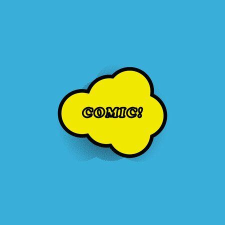 vector comic dialog icon for superhero talks Illusztráció