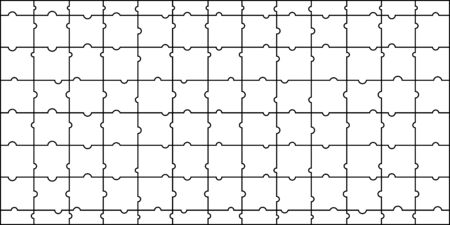 vector image of a sample of children's puzzles