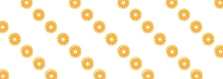 vector background with orange slices on a white banner 向量圖像