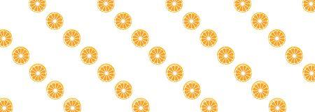 vector background with orange slices on a white banner Illusztráció