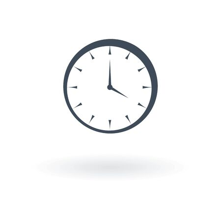 Vector icon of wall clock in modern style