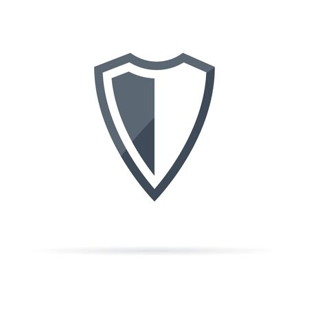 vector icon shield, protection and care of the shadow
