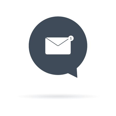 vector icon of received letter marked unread 向量圖像