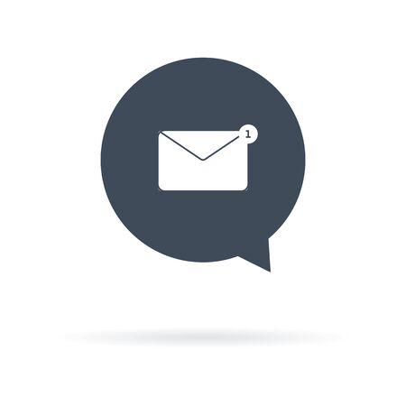 vector icon of received letter marked unread Illusztráció