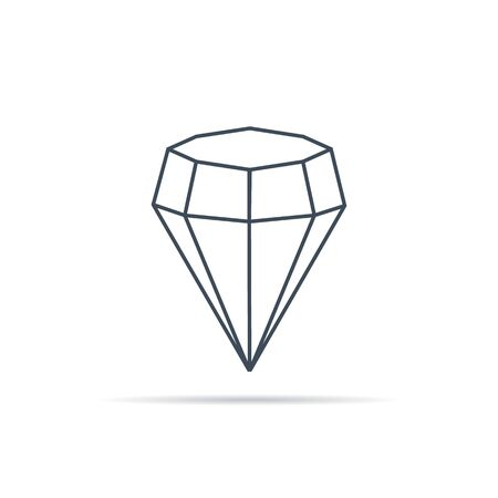 vector icon of diamonds in linear style on background