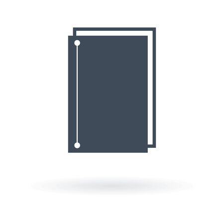 Notebook. Icon isolated sign symbol and flat style Ilustracja