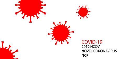 vector background for viral spread of coronavirus bacteria