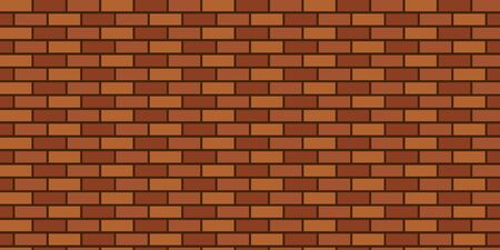 Seamless vector background of brown brick wall