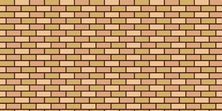 Seamless vector background of brick wall flesh color