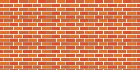 Seamless vector background of orange brick wall Illusztráció
