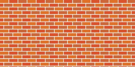 Seamless vector background of orange brick wall 向量圖像