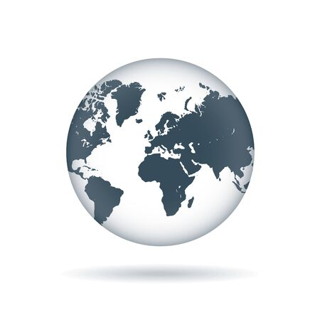 vector globe icon with a view of Africa and Eurasia