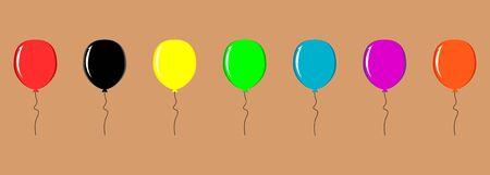 vector set of colorful festive baby balls icons Illusztráció