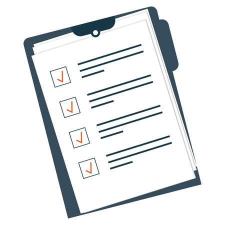 vector image of tablet with signature contract documents