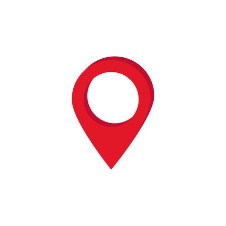vector image of red gps label on map Illusztráció