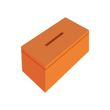 vector image of a box for contributions