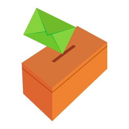 vector image of a box for mail letters