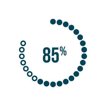 eighty five percent download program vector icon