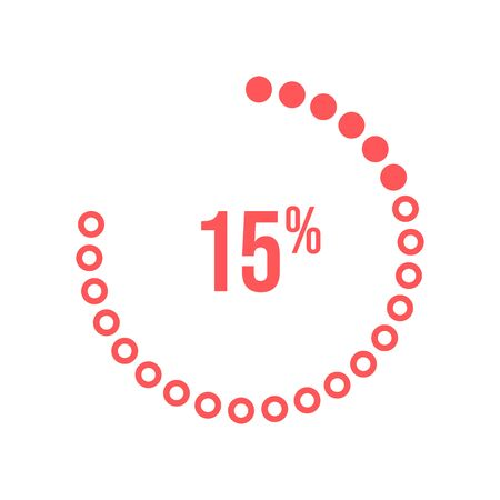 vector program download icon for fifteen percent