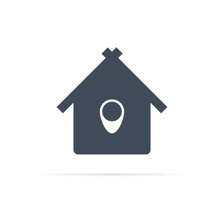 vector house icon symbolizing point of location