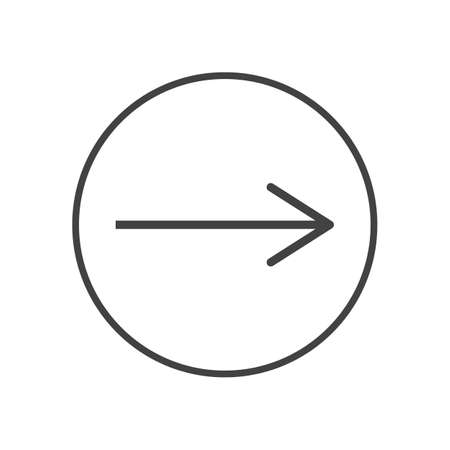 vector arrow icon in circle on background