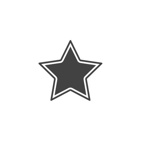 vector figure of a badge in the form of a star