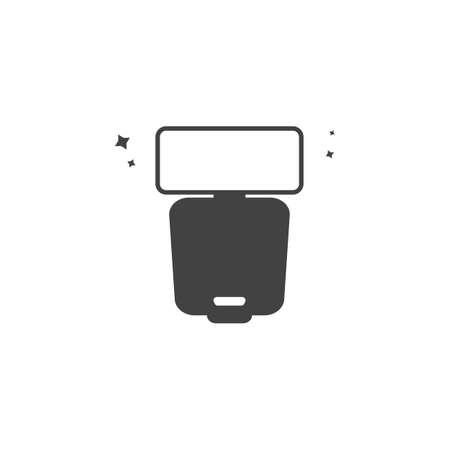 vector camera display icon on a white background