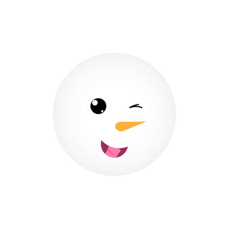 vector image of a smiling snowman head Иллюстрация