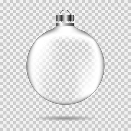 vector image of a translucent christmas ball on a transparent background Vector Illustratie