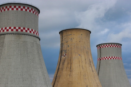 npp: Nuclear towers Stock Photo