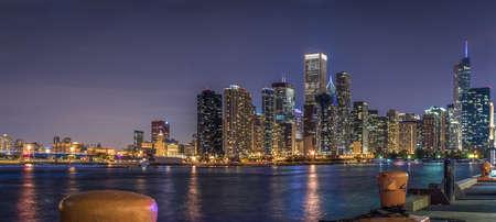 navy pier: Chicago Skyline,view from Navy Pier